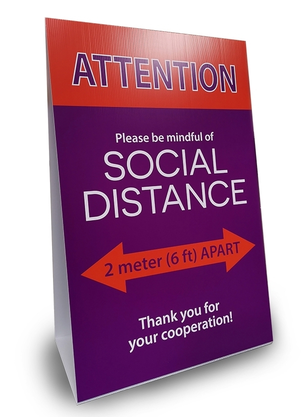FREE STANDING CORO A-FRAME - SOCIAL DISTANCE