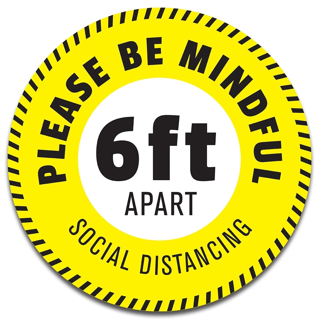 "14"" SOCIAL DISTANCING DECAL"