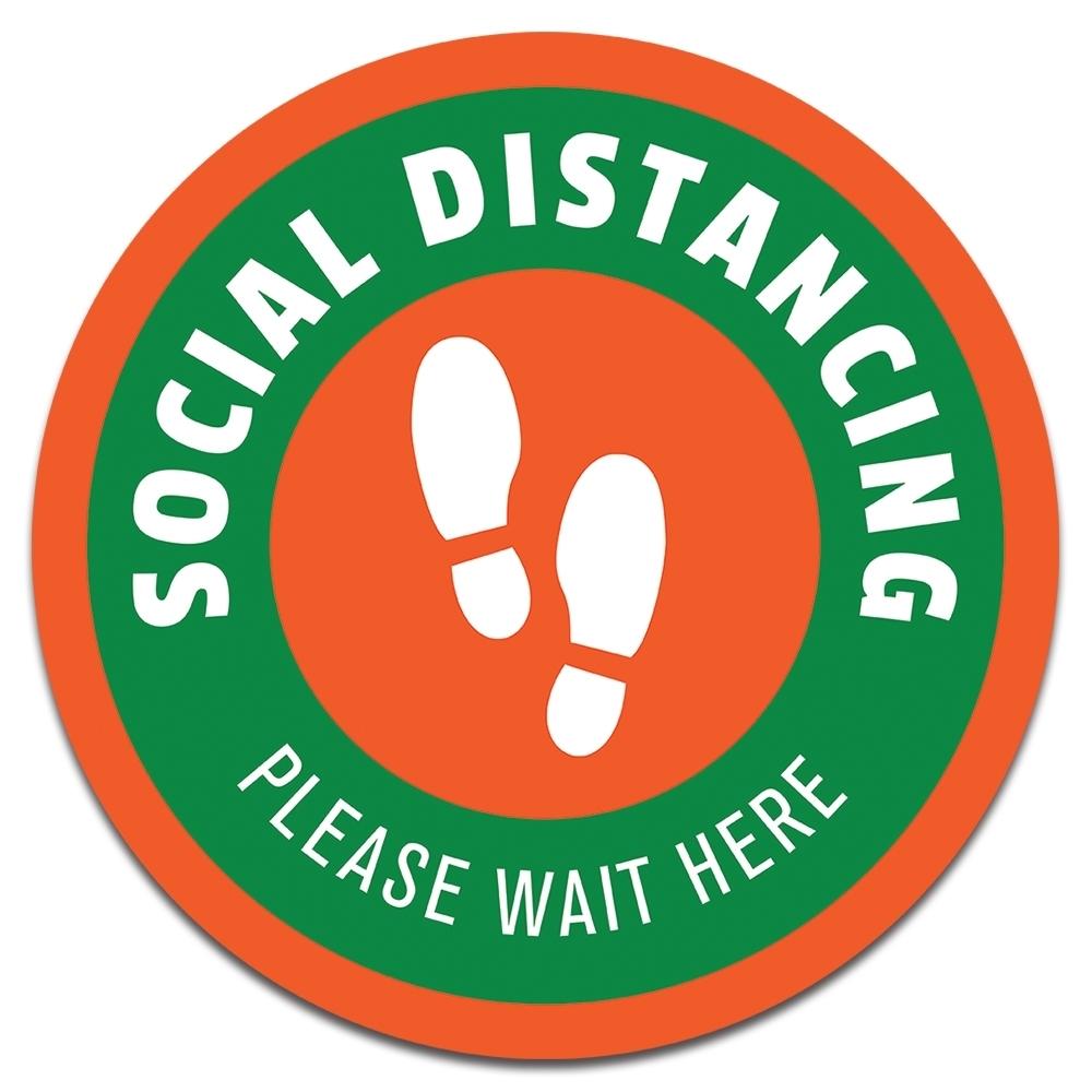 "7"" SOCIAL DISTANCING DECAL"