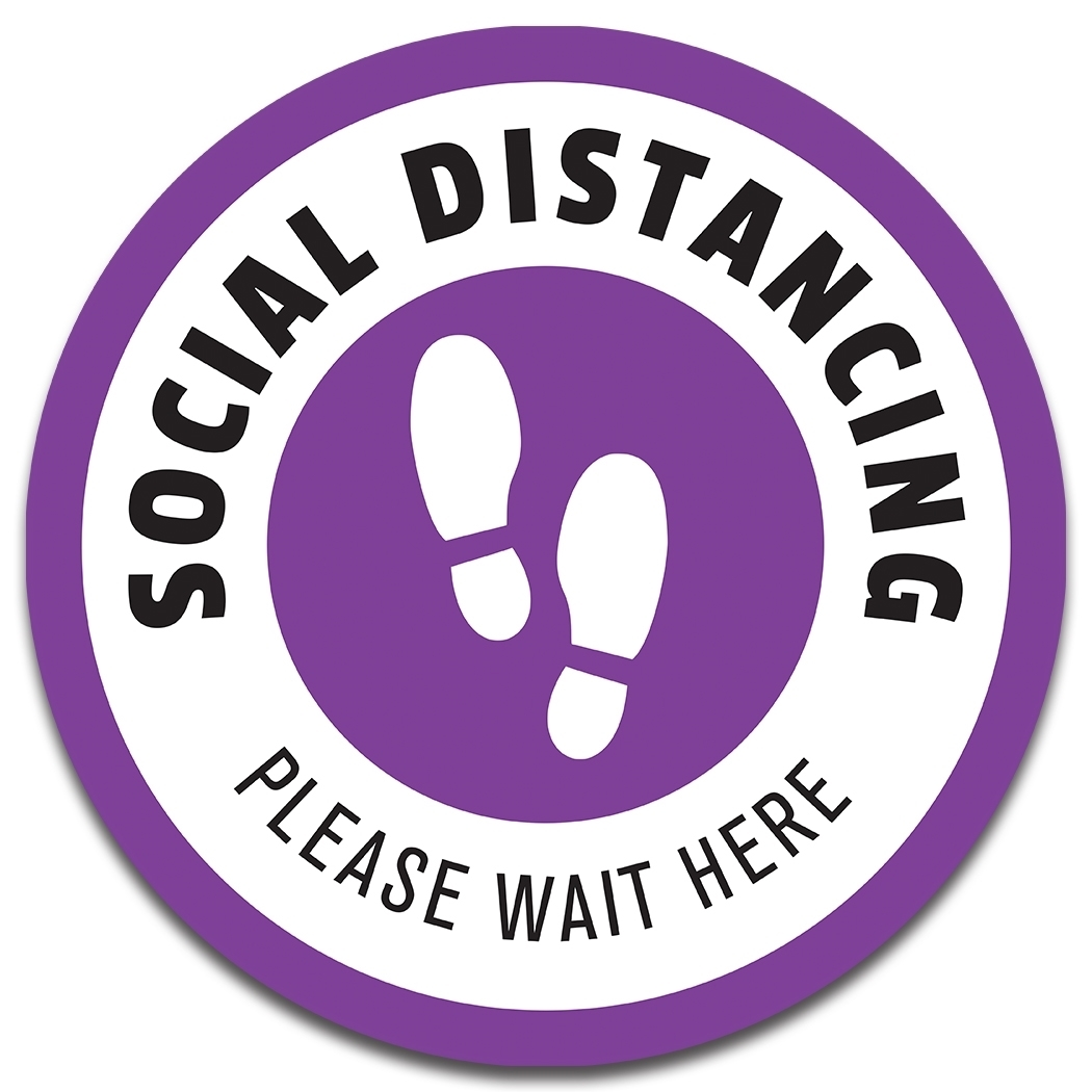 "7"" PHYSICAL DISTANCING DECAL"